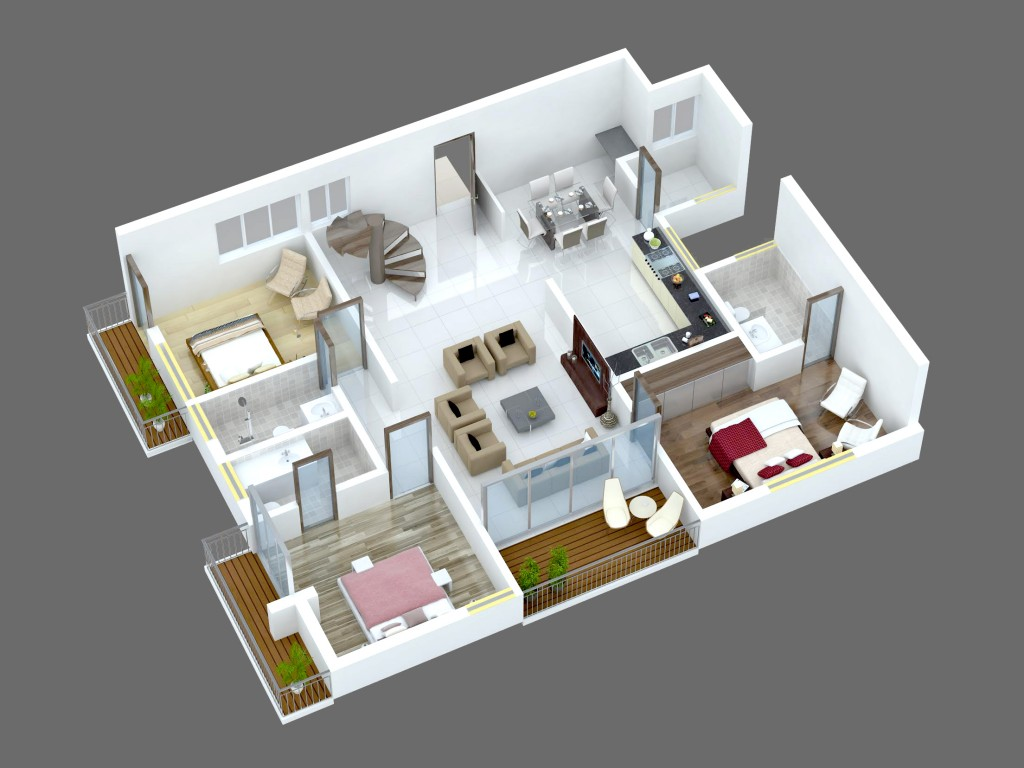 100 Floor Plans For Flats One Two U0026 Three